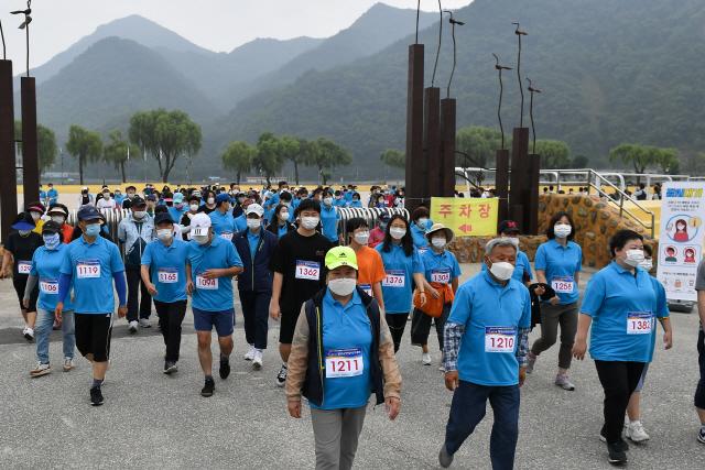 ▲ 제21회 정선군민 건강달리기대회가 지난 27일 정선공설운동장에서 열렸다.